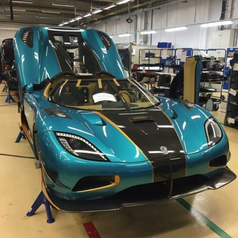 The first Japanese Koenigsegg Agera RS on the Assembly Line.