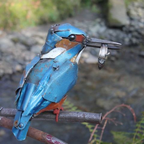 Scrap Metal Kingfisher