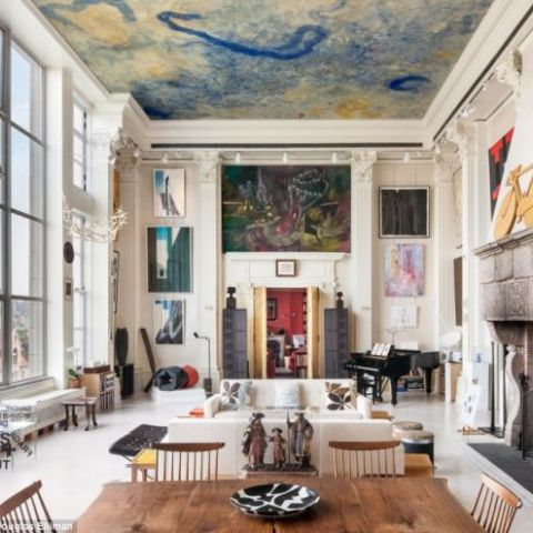 A New York City apartment with Corinthian columns and ceilings over 20-ft high Photographed by Evan Joseph