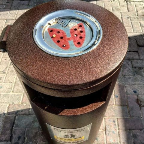 Dubai Municipality's new cigarette trash can