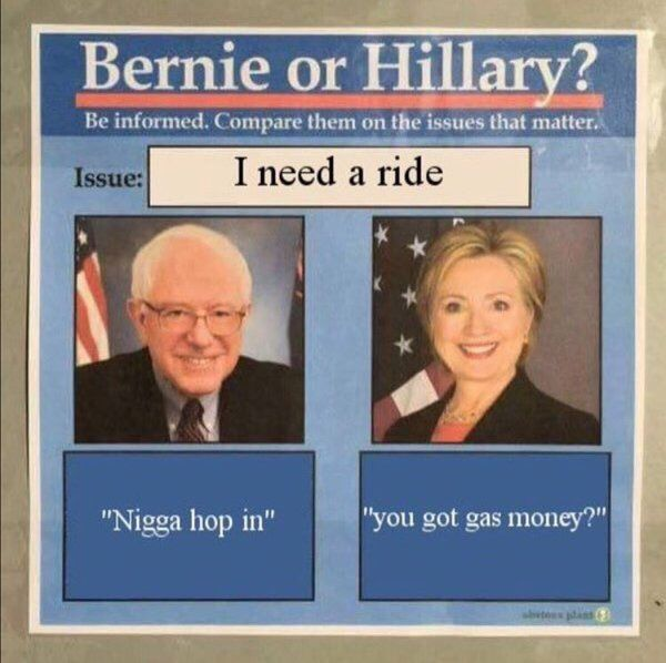 Main reason to vote for Bern