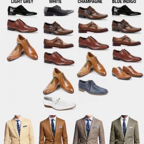 How to pick the perfect pair of shoes for every suit color.