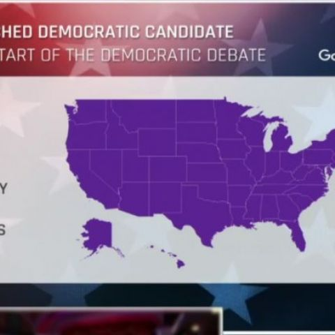 Bernie Sanders most searched candidate during the Democratic Debate in ALL states