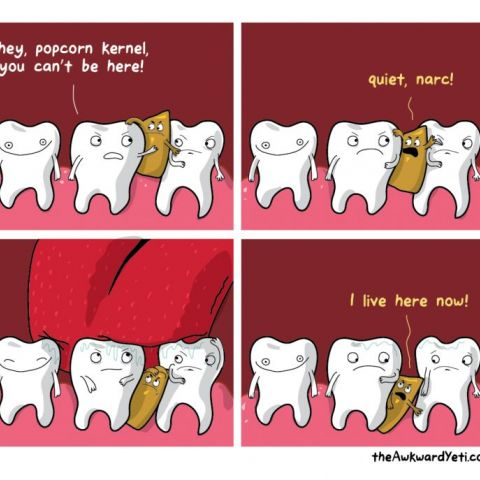 My favourite Teeth related Awkward Yeti Comics