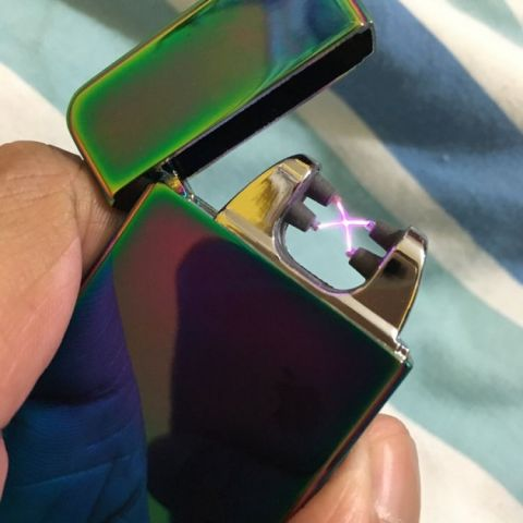 My new lighter uses electricity. Looks cool.