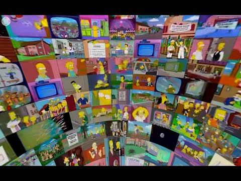 The Simpsons sphere - 360° 500 episodes at the same time