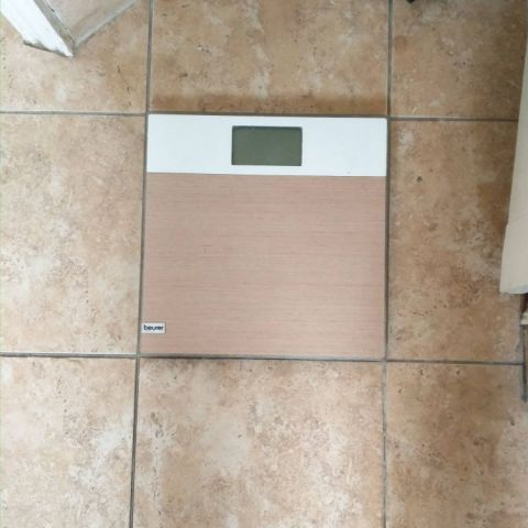 My bathroom scale fits the tile perfectly