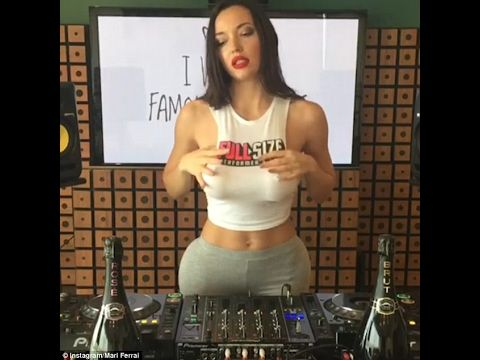 Busty Portuguese model DJ Mari Ferrari shocks fans during performance