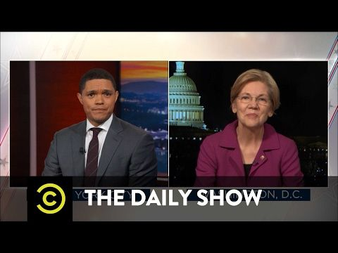 Senator Elizabeth Warren Reacts to Being Silenced: The Daily Show
