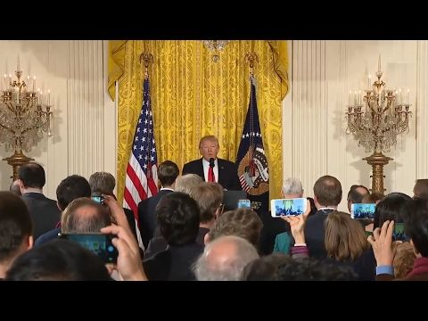 President Donald Trump Full Press Conference - Addresses Ties to Russia, Leaks, and