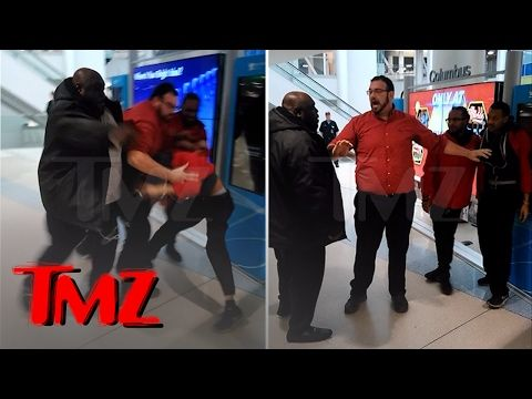 FAIZON LOVE Airport Fight Footage ... 'LEMME SHOW YOU WHAT A MAN DO!' | TMZ