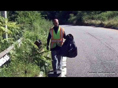 NJ man honored for cleaning roadsides, reuniting owners with lost items