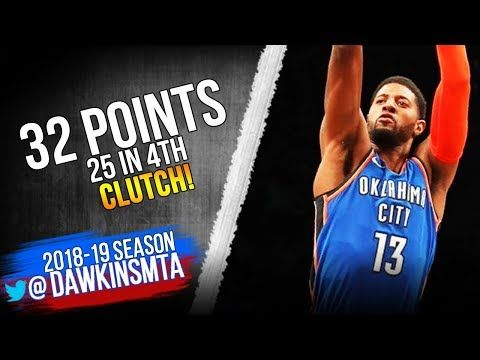 Paul George UNREAL 47 Pts, 25 in 4th! 2018.12.05 Thunder vs Nets -  EPiC COMEBACK! FreeDawkins