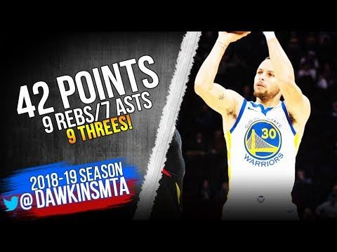 Stephen Curry Full Highlights 2018.12.05 Warriors vs Cavs - 42-9-7, 9 Threes! | FreeDawkins