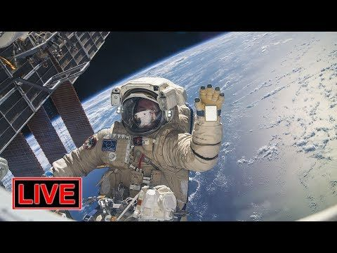 LIVE: Russian spacewalk outside the ISS!