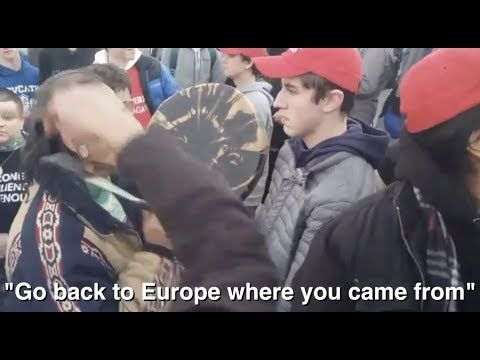 CLEAR PROOF: Extremists Harass Black Kid,  Native American Veteran Approached MAGA Hat Crowd!