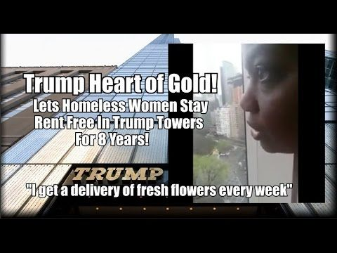 Black Homeless Woman Says Trump Let Her Live Rent Free in Trump Tower for 8 years!