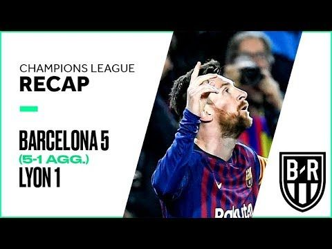 Barcelona 5-1 Lyon (5-1 agg.): Champions League Recap with Goals and Best Moments