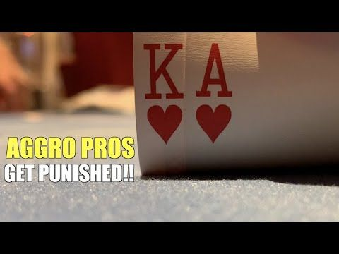 Aggressive Pros Get Punished For 3-Betting Me When I Have It! Poker Vlog Ep 154