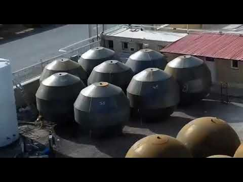 Construction of spherical tanks by explosive method. Explosive Hydroforming.