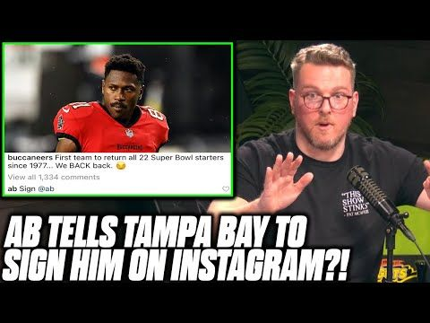 Pat McAfee Reacts To Antonio Brown Telling The Buccaneers To Sign Him On Instagram