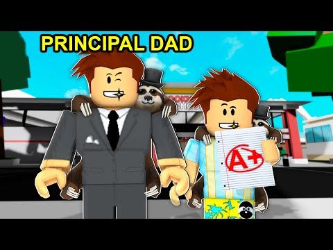 Dad Became Brookhaven Principal.. (Roblox)