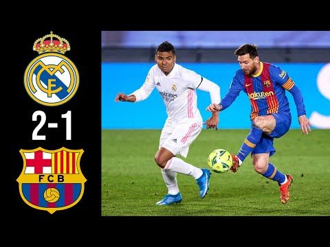 FC Barcelona vs Real Madrid 1-2 | Resumen Highlights Goles 2021 HD
