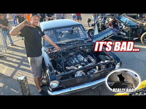 LS Fest Vegas Day 1 - James' Engine Legit TORCHED Itself & Leroy Makes His First Pass w/NEW Turbos!!