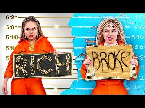 Rich Jail vs Broke Jail / Stupid Life Hacks in Prison